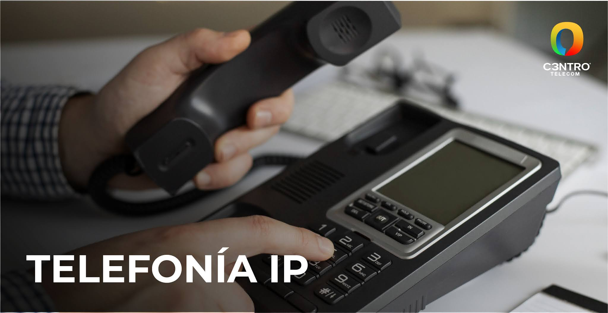 telefono con telefonía IP